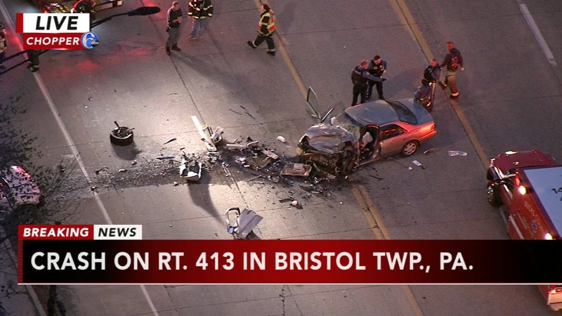 Crash on Route 413 in Bristol Twp