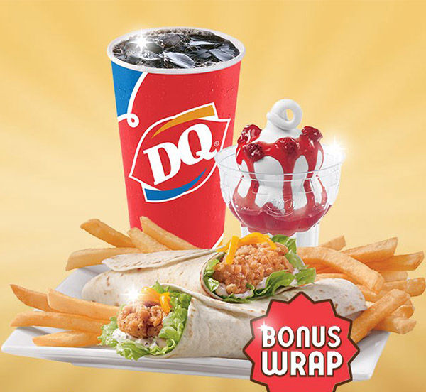 "<div class=""meta image-caption""><div class=""origin-logo origin-image ""><span></span></div><span class=""caption-text"">DQ: The 5 Buck Lunch keeps getting new additions. The latest is two Crispy Chicken Wraps, fries, a drink and a sundae for only $5. (Dairy Queen)</span></div>"