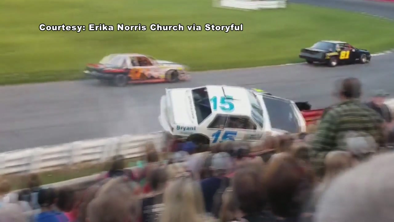 Close call for spectators when race car leaves the track | abc13.com