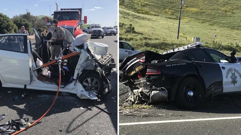 CHP officer, several others hospitalized after crash on Hwy 80