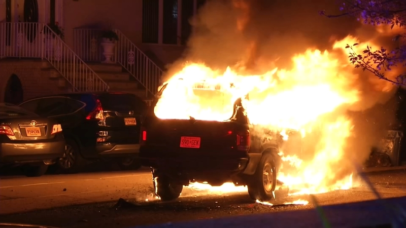 Police Officers Pull Man From Burning Suv After Garfield Crash Abc7 New York