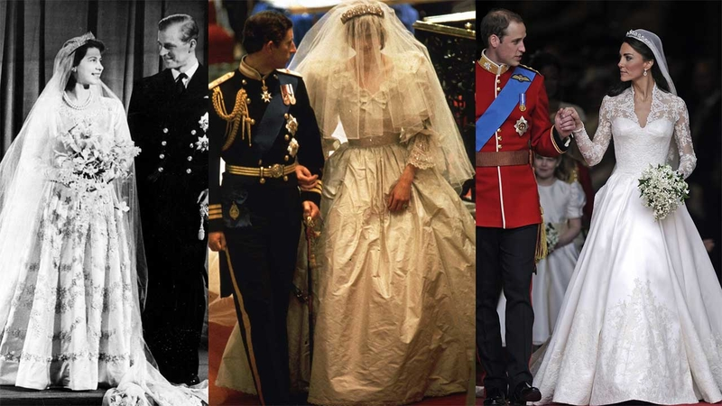 Princess Kate Wedding Dress.Photos Royal Wedding Dresses Through The Years