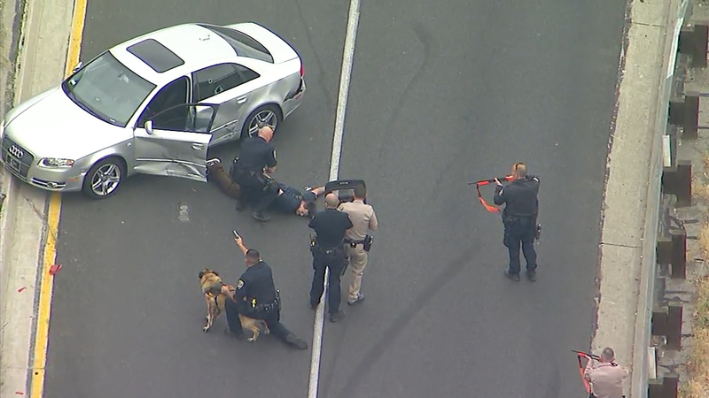 Police chase suspect in Audi from Orange County into Los Angeles