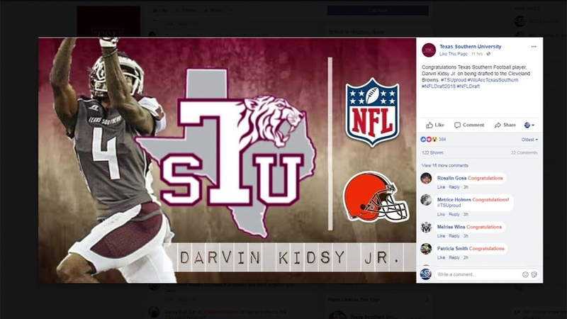 sale retailer 27f52 b5296 Texas Southern's Darvin Kidsy Jr. gets picked up by Browns