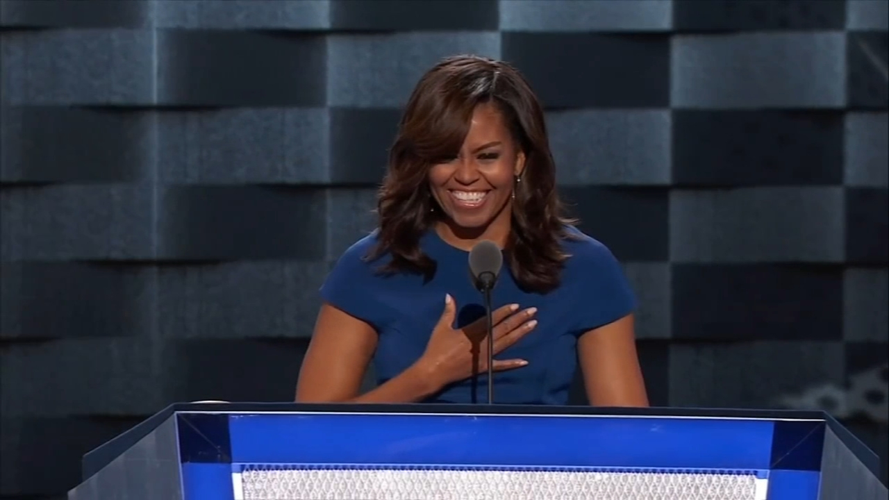 Michelle Obama, Hollywood stars in Philadelphia