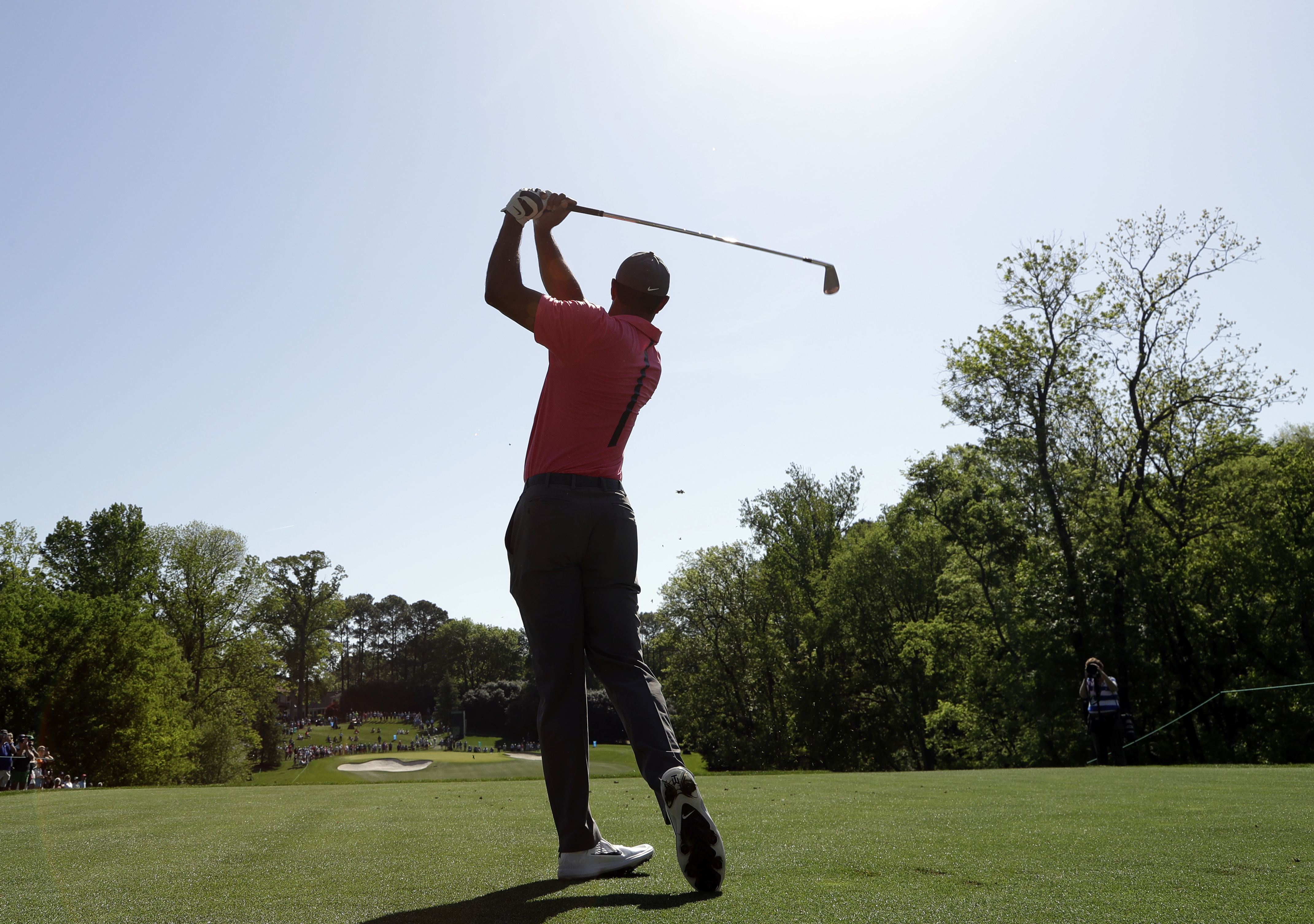 "<div class=""meta image-caption""><div class=""origin-logo origin-image ap""><span>AP</span></div><span class=""caption-text"">Tiger Woods watches his tee shot on the 13th hole during the pro-am of the Wells Fargo Championship golf tournament at Quail Hollow Club in Charlotte. (Chuck Burton)</span></div>"