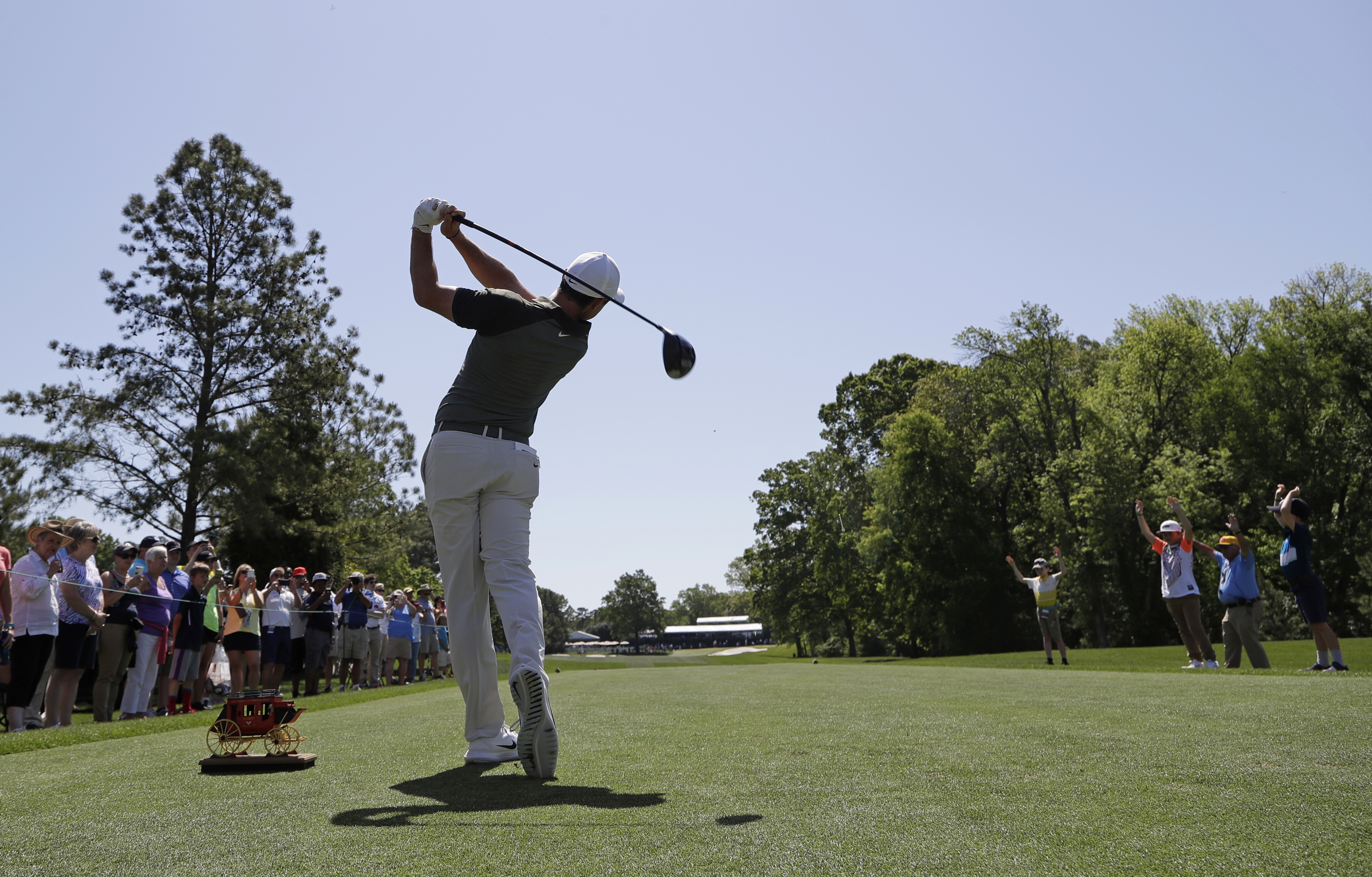 "<div class=""meta image-caption""><div class=""origin-logo origin-image ap""><span>AP</span></div><span class=""caption-text"">Rory McIlroy, of Northern Ireland, hits his tee shot on the eighth hole during the pro-am. (Chuck Burton)</span></div>"