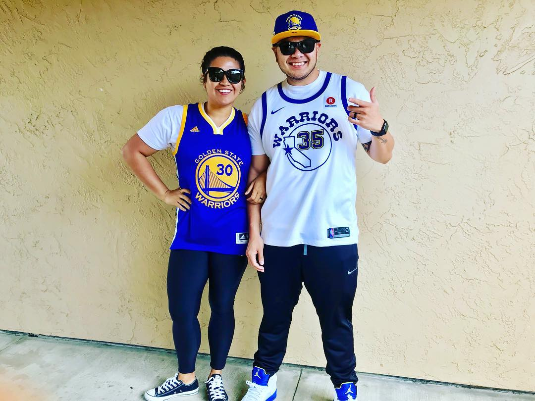 <div class='meta'><div class='origin-logo' data-origin='none'></div><span class='caption-text' data-credit='Photo submitted to KGO-TV by krist33ne/Instagram'>Warriors fans show their spirit during the 2017-2018 season. Share your photos using #DubsOn7 and you may see them online or on TV!</span></div>
