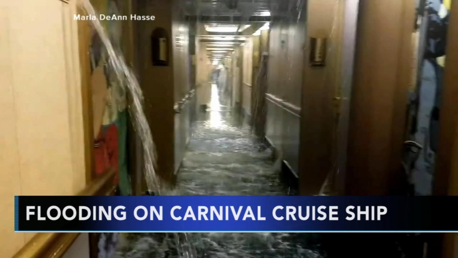 Water line break floods Carnival Cruise ship - 6abc ...