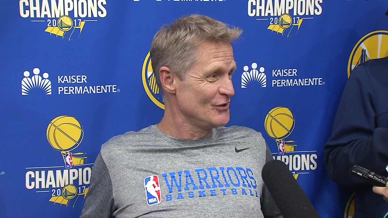 Golden State Warriors head coach Steve Kerr is seen in this undated image.
