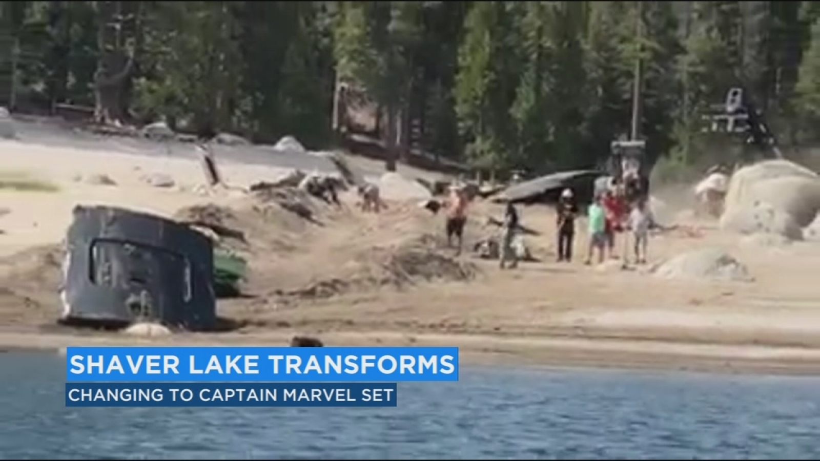 scenes come to life ahead of 'captain marvel' movie shooting at