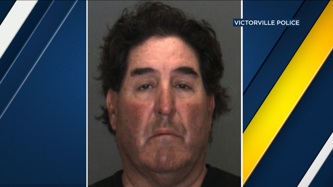 Police said Steven Lawrence Ortiz, 58, of Victorville, was arrested Thursday.