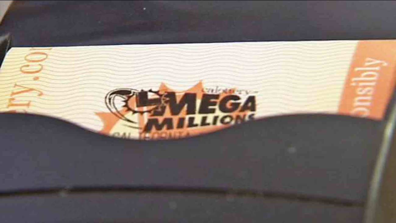 A Mega Millions ticket is shown in this undated file photo.