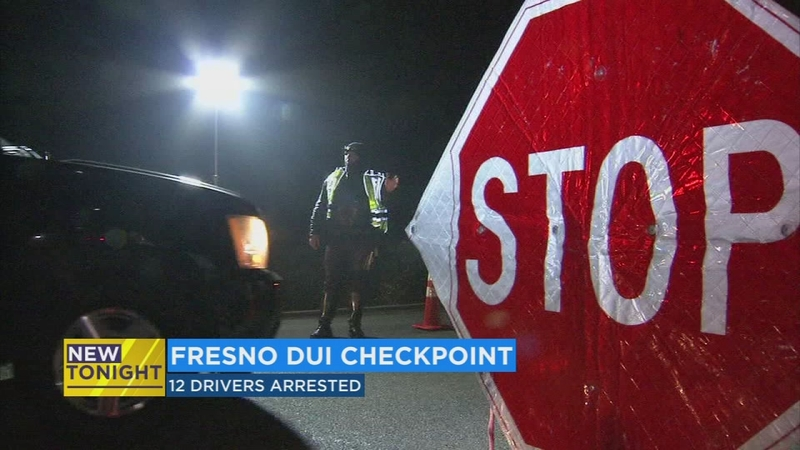 12 arrested at DUI checkpoint in SW Fresno