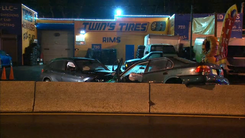 3 hurt, 1 critically, in Jersey City crash