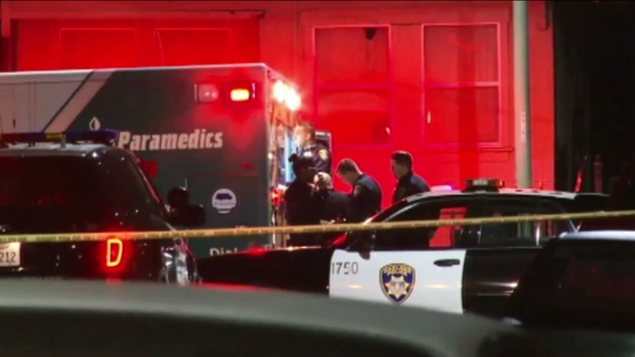 Police investigate Oakland shooting.