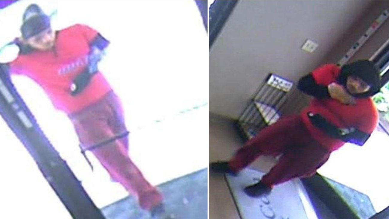 Images of the Hope Mills bank robbery suspect.