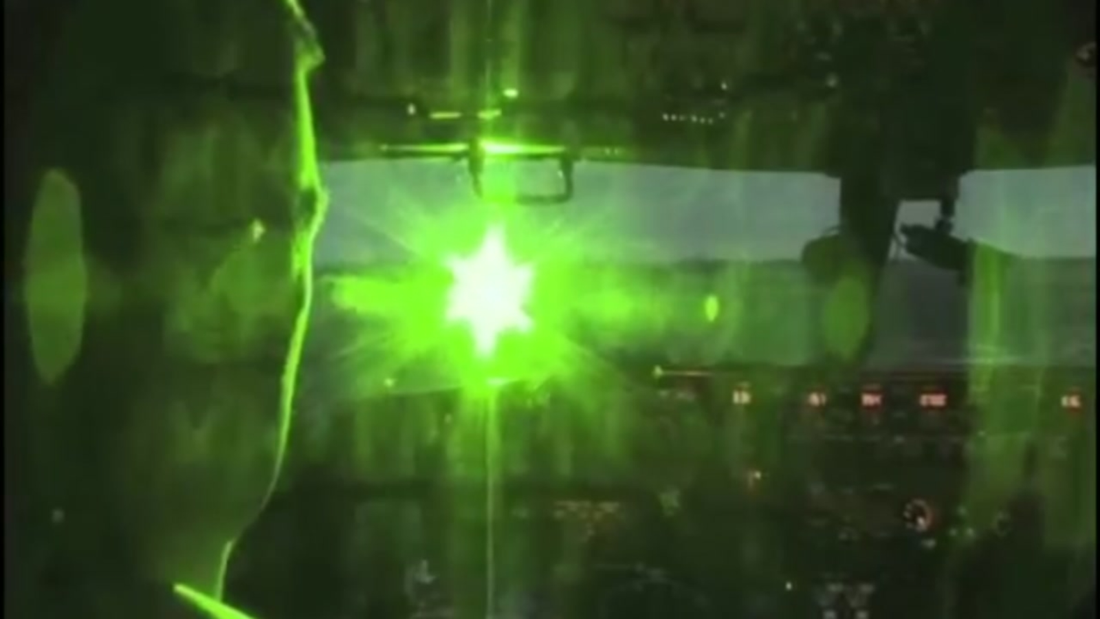 VIDEO: The danger of laser activity around airplanes