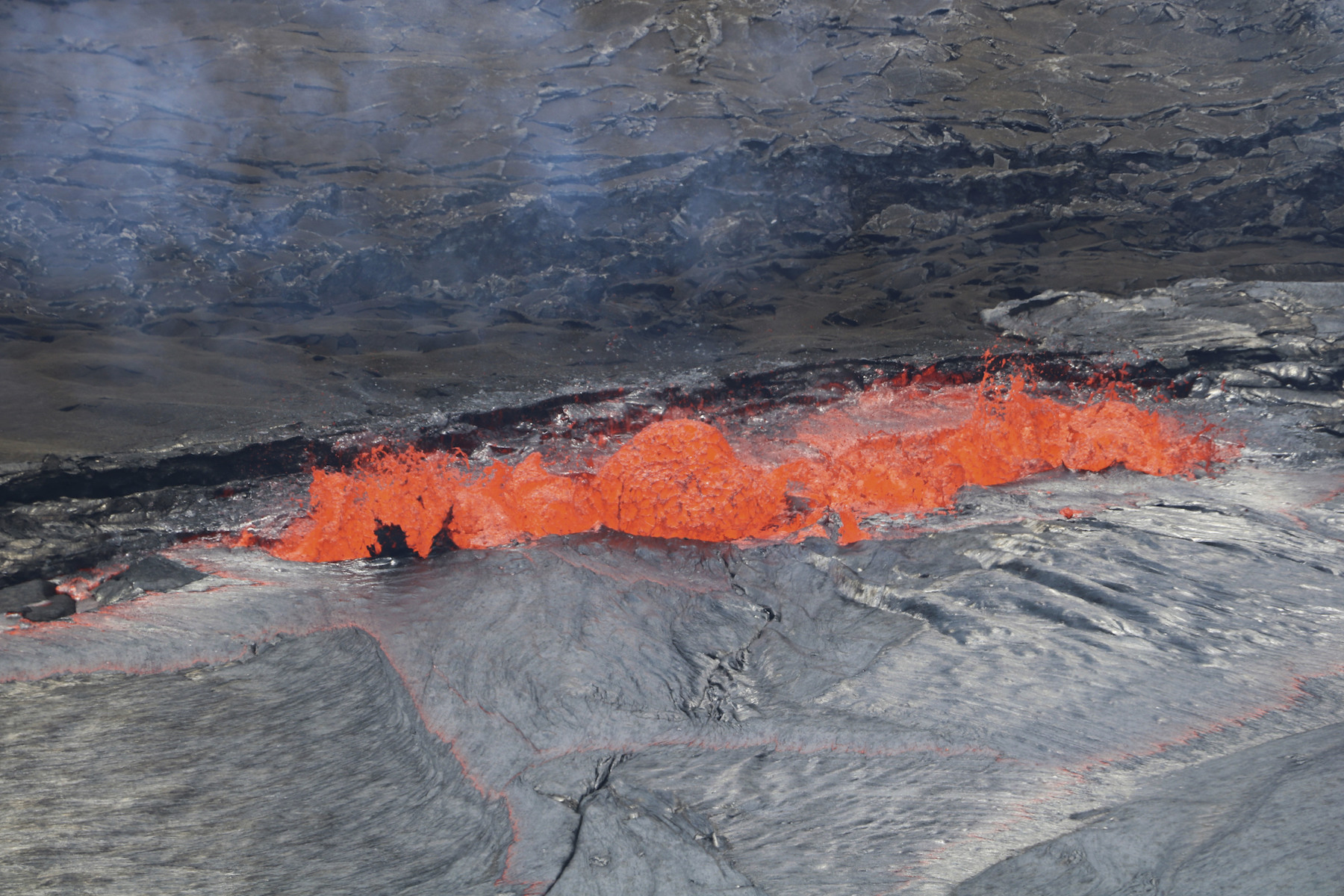 "<div class=""meta image-caption""><div class=""origin-logo origin-image ap""><span>AP</span></div><span class=""caption-text"">In this April 22, 2018, photo provided by the U.S. Geological Survey, lava spatters at the edge of Kilauea's Halemaumau Crater in Hawaii Volcanoes National Park. (USGS/AP)</span></div>"