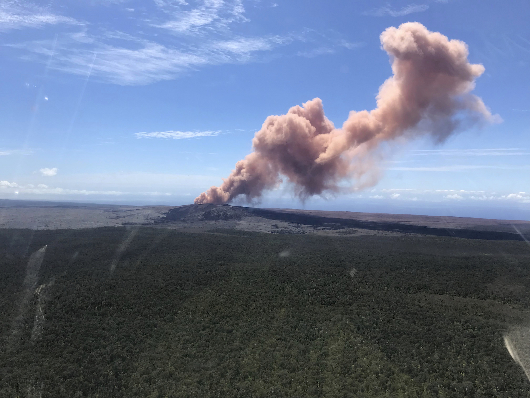 "<div class=""meta image-caption""><div class=""origin-logo origin-image ap""><span>AP</span></div><span class=""caption-text"">In this photo released by U.S. Geological Survey, ash plume rises above the Puu Oo vent, on Hawaii's Kilauea Volcano Thursday, May 3, 2018, in Hawaii Volcanoes National Park. (USGS/AP)</span></div>"