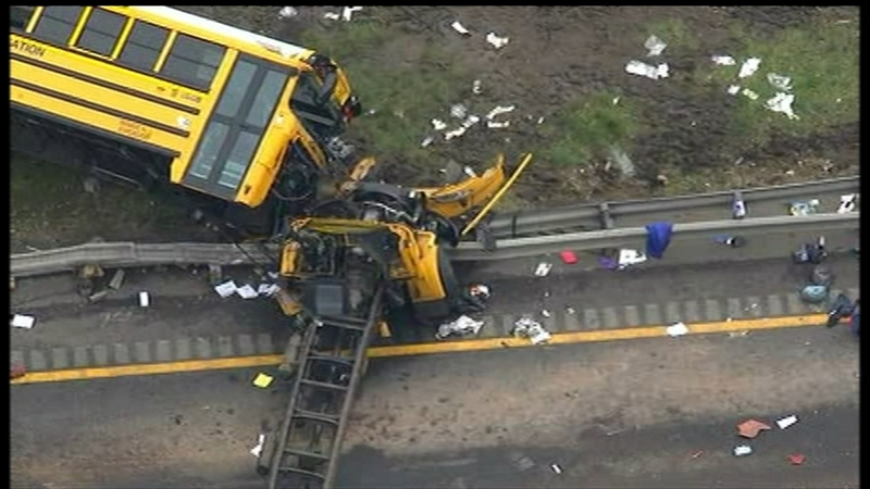Teacher, student killed after school bus and truck collide