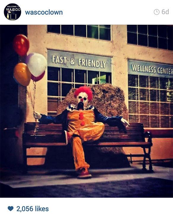 PHOTOS: Creepy clown sparks terrifying trend in small CA
