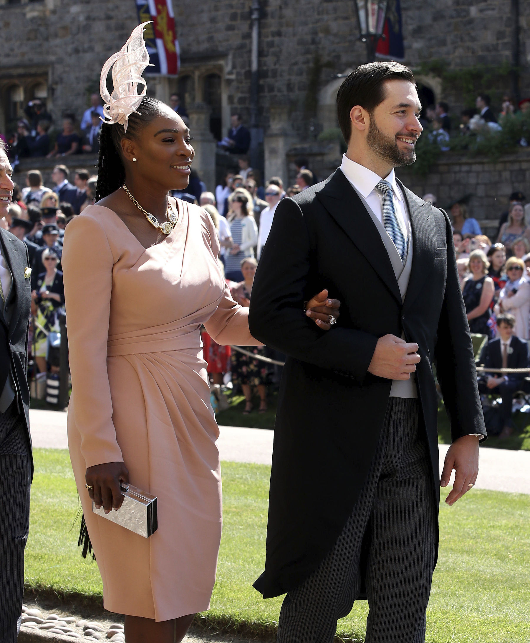 "<div class=""meta image-caption""><div class=""origin-logo origin-image ap""><span>AP</span></div><span class=""caption-text"">Serena Williams and Alexis Ohanian arrive at St George's Chapel at Windsor Castle for the wedding of Meghan Markle and Prince Harry. (Chris Radburn/PA Wire)</span></div>"