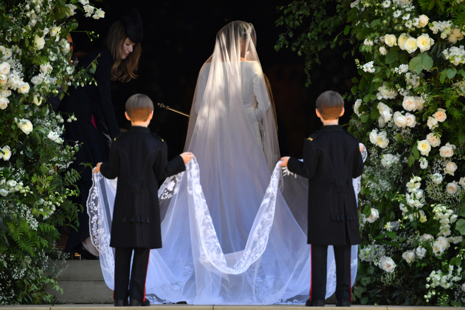 <div class='meta'><div class='origin-logo' data-origin='Creative Content'></div><span class='caption-text' data-credit='Ben Stansall/WPA Pool.Getty Images'>Meghan Markle arrives for the wedding ceremony to marry Prince Harry at St George's Chapel, Windsor Castle on May 19, 2018 in Windsor, England.</span></div>