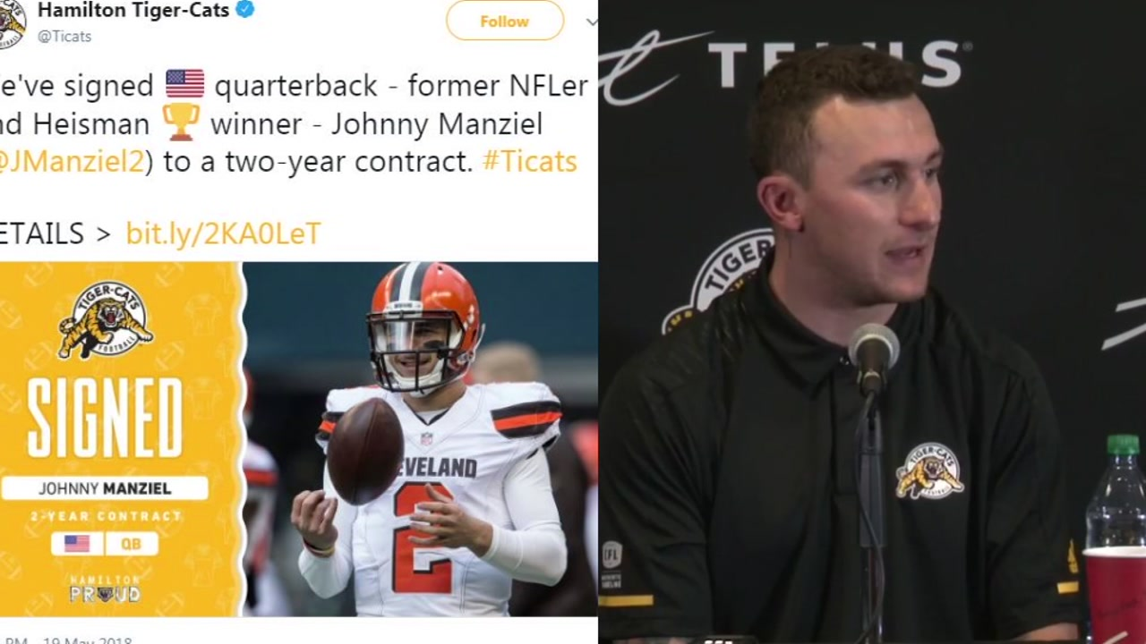 acaf5f337 Johnny Manziel signs with CFL in path back to football