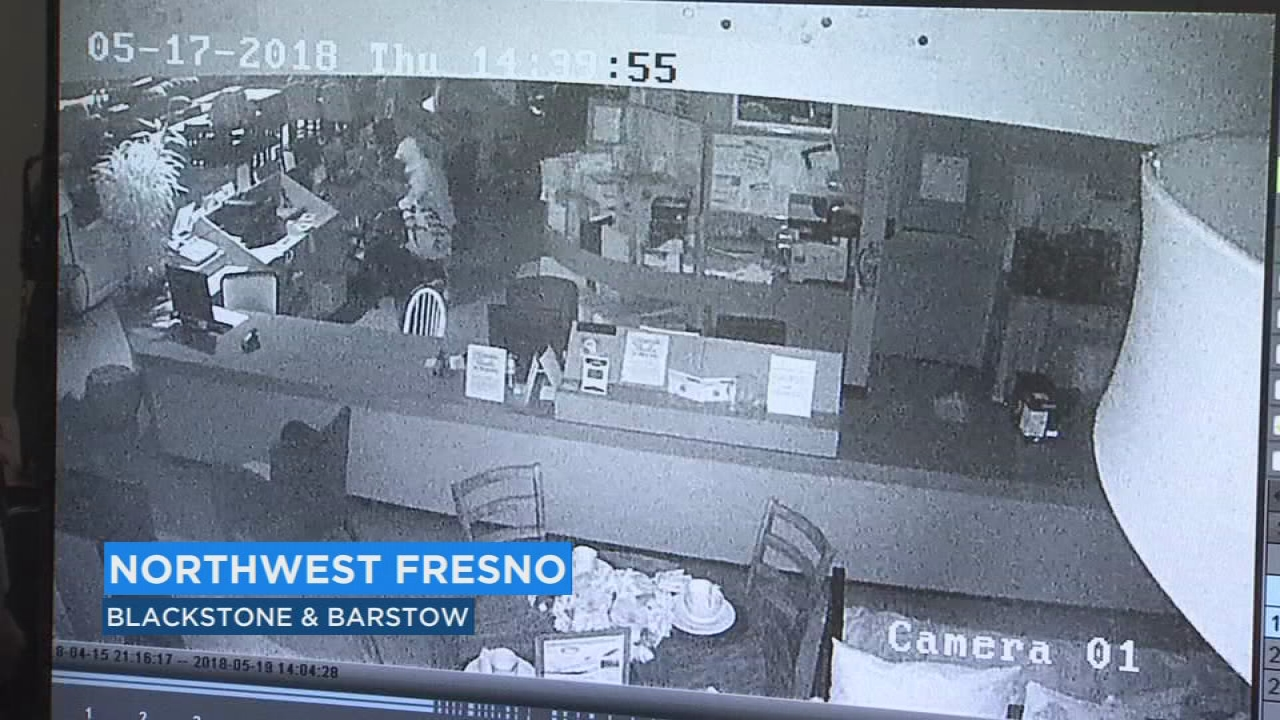 Surveillance Footage Captures Thief Breaking Into NW Fresno Furniture Store  | Abc30.com