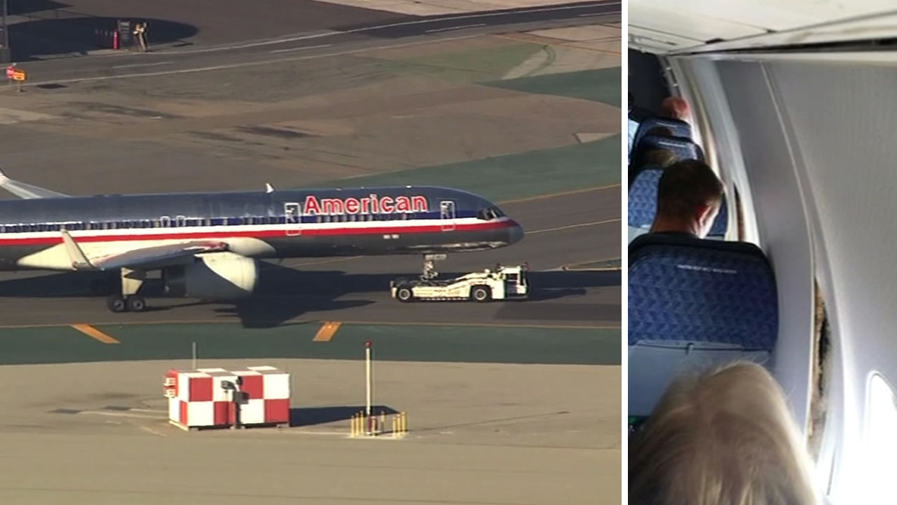 American Airlines passengers witness walls split apart