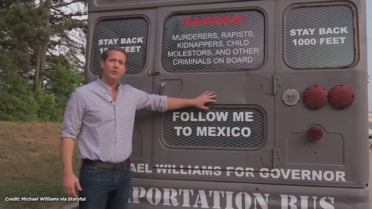 Republican Candidate for Georgia Governor Unveils 'Deportation Bus'