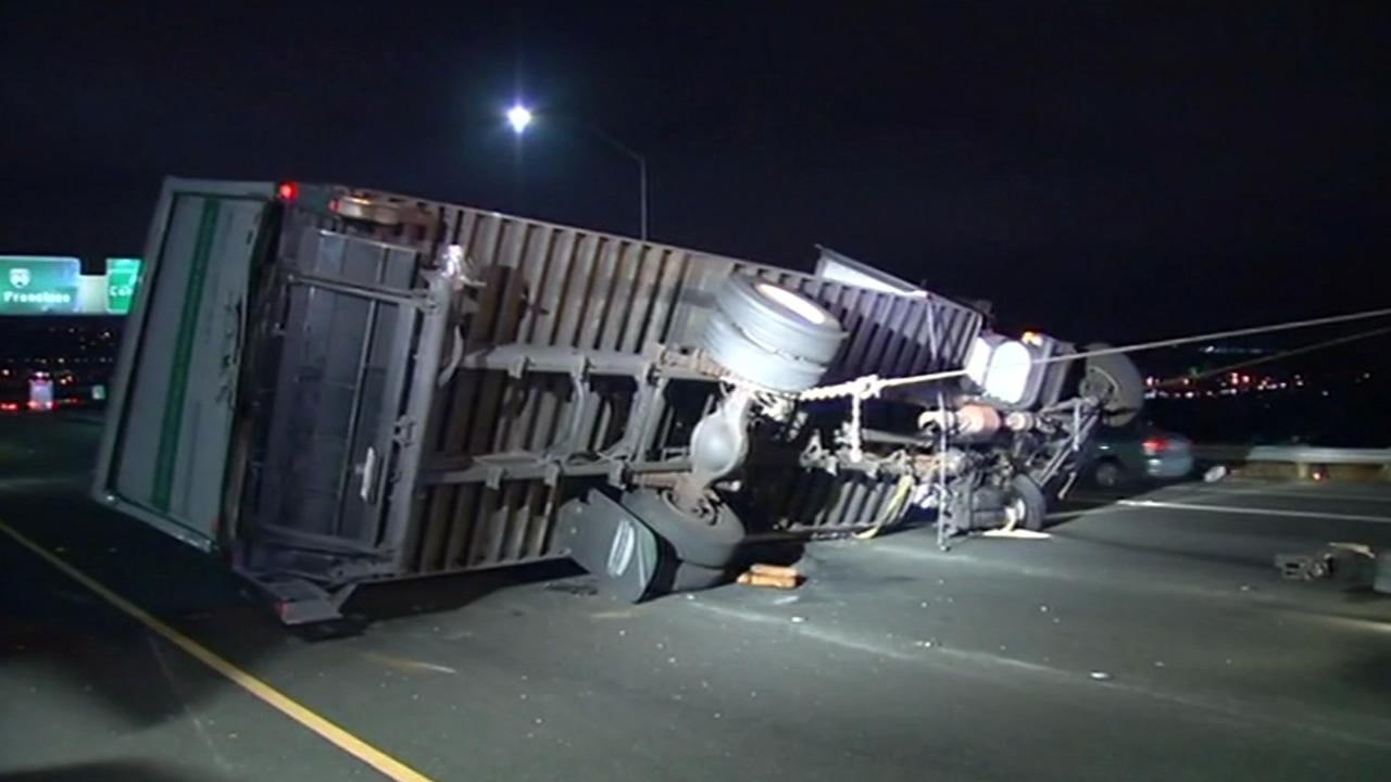 Big-rig accident on westbound Interstate 80 in Vallejo