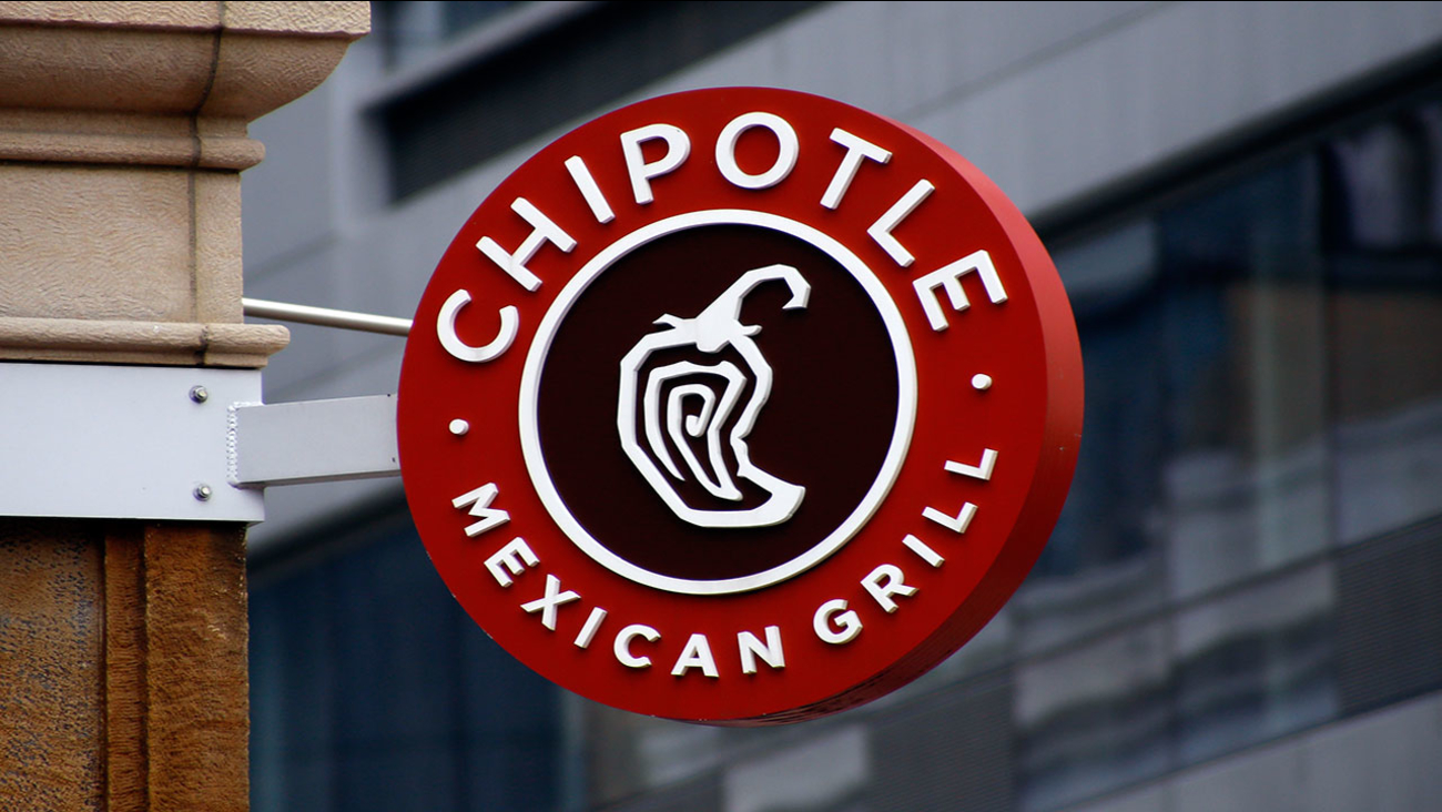 The Chipotle chain logo is seen in this file image taken in Pittsburgh in 2016.