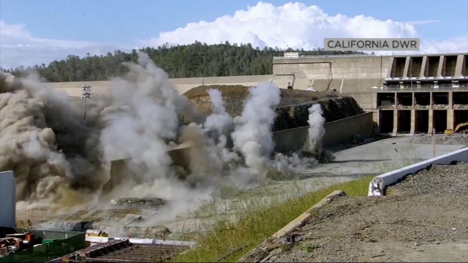 WATCH: Controlled explosions at Oroville Dam pave way for next phase of  rebuilding