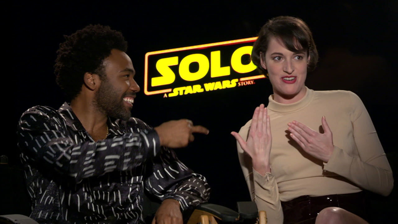 Image result for donald glover phoebe waller bridge solo a star wars story