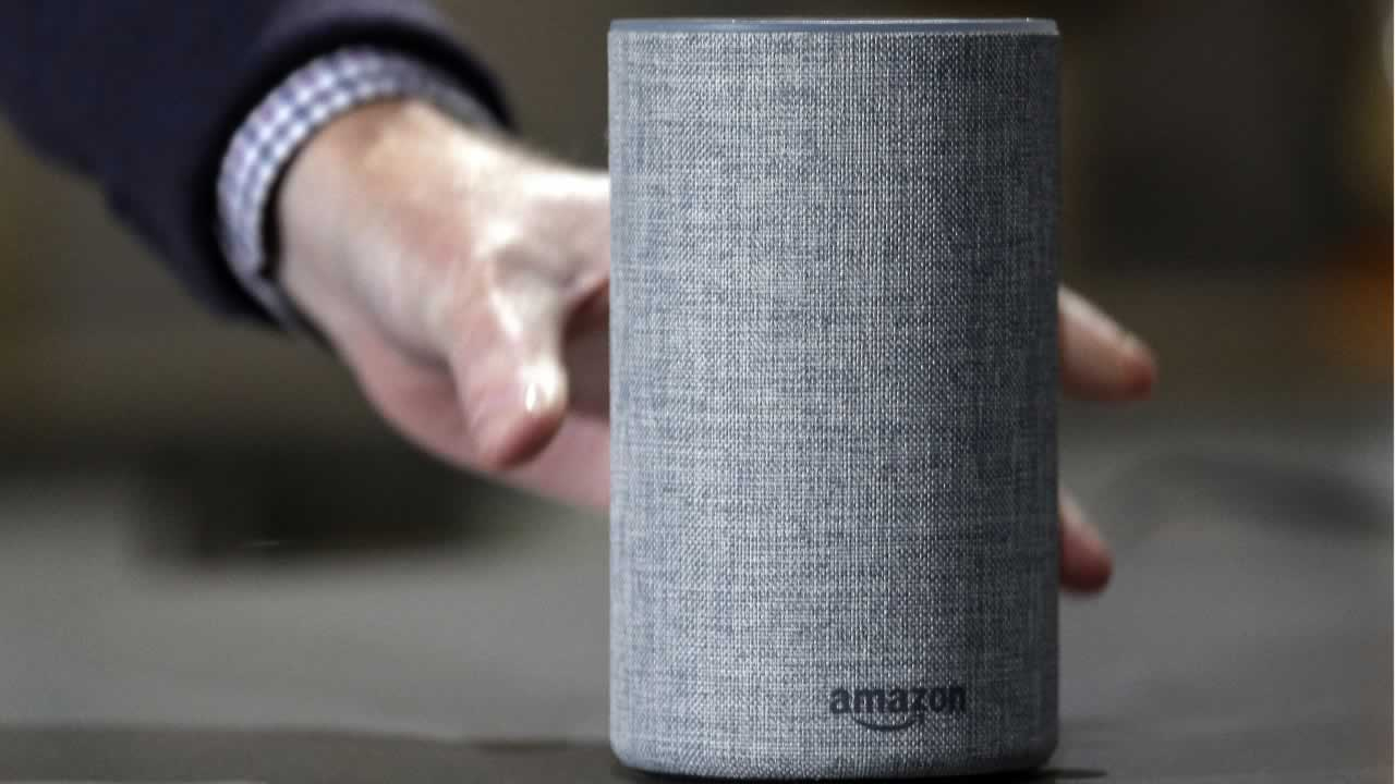 In this Wednesday, Sept. 27, 2017, file photo, a new Amazon Echo is displayed during a program announcing several new Amazon products by the company, in Seattle.