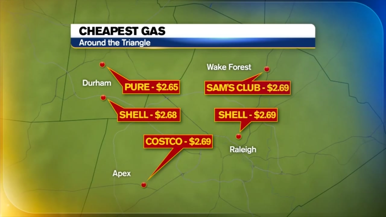 Cheapest Gas Prices >> Cheapest Gas Prices In The Triangle Abc11 Com