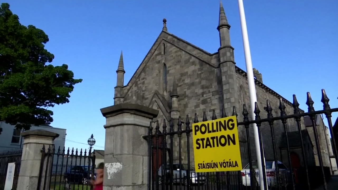 A polling location appears in Ireland in this undated image.