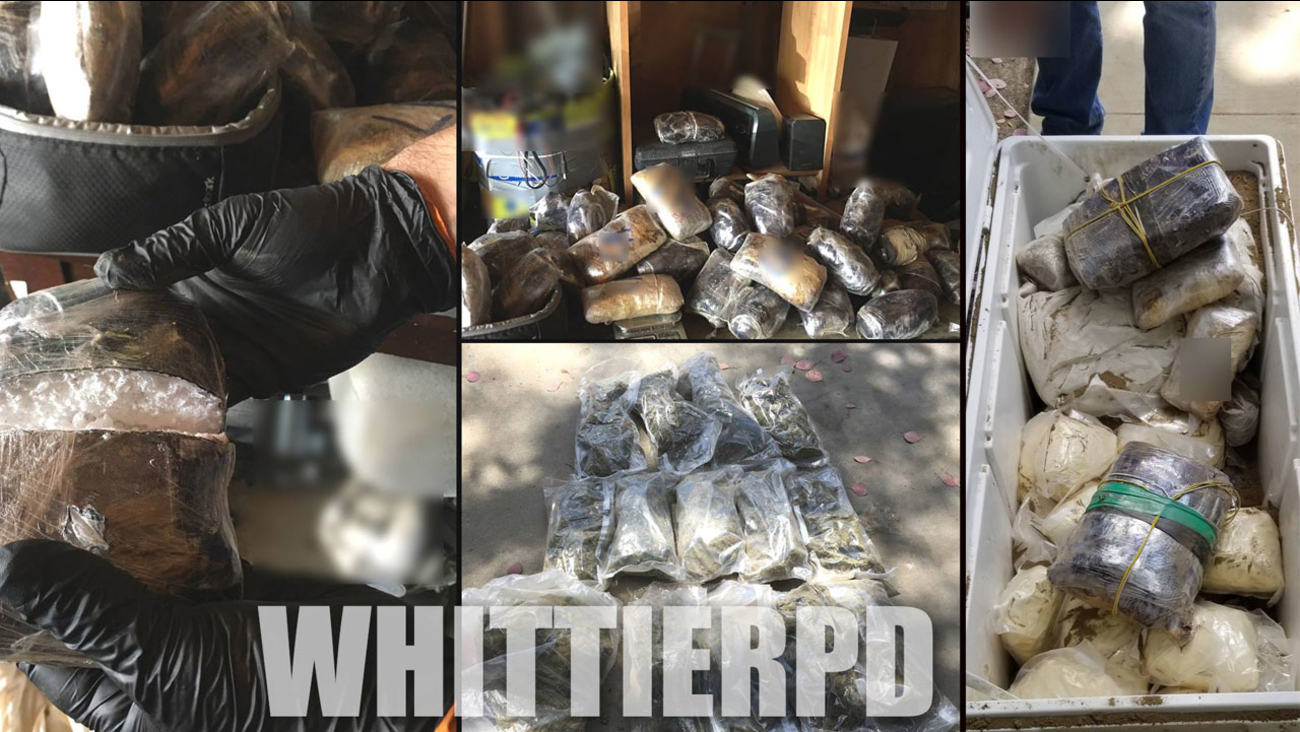 Authorities provided images of the drugs seized at a home in Whittier during a federal probation operation.