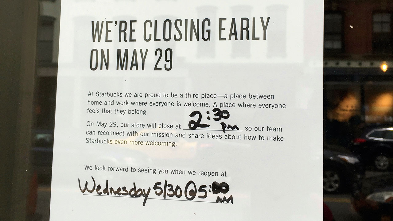 Thousands of Starbucks stores close early for company-wide anti-bias ...