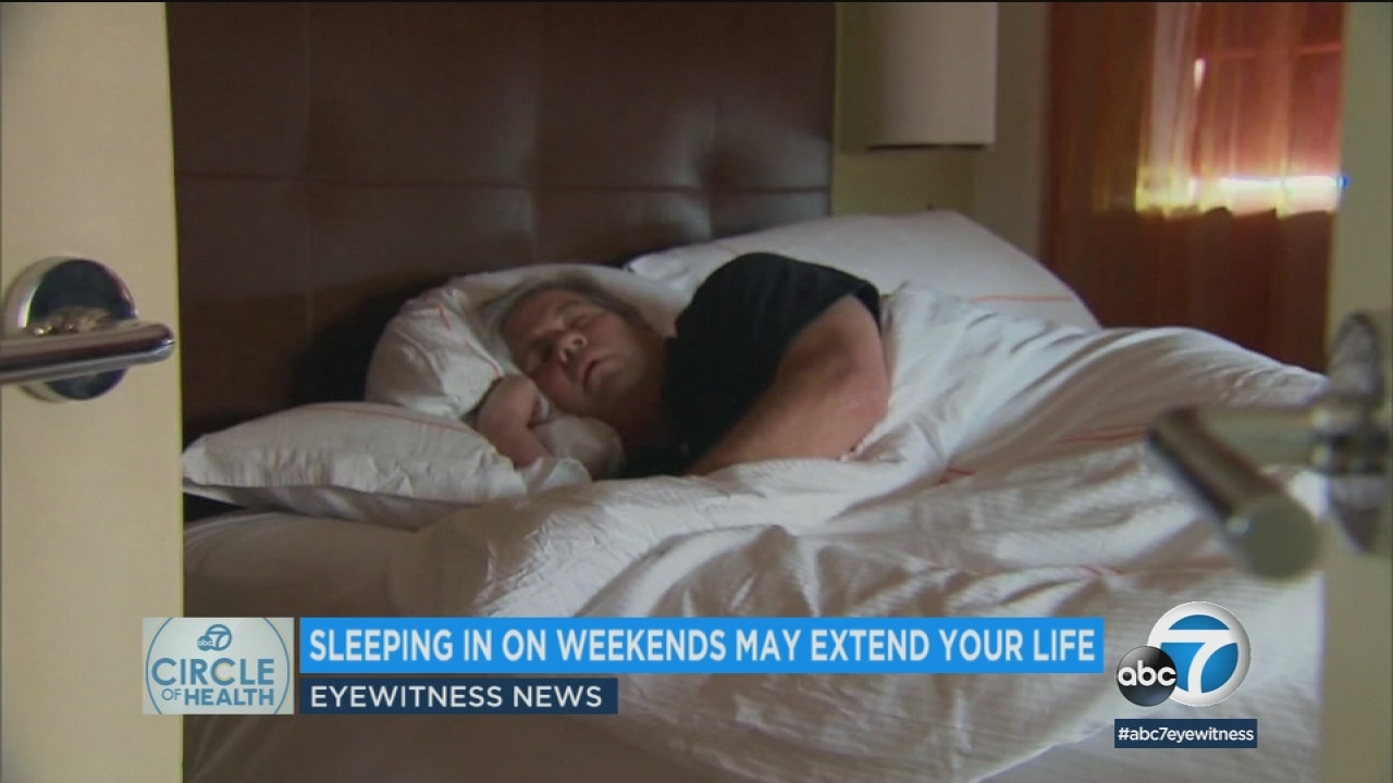 Sleeping in on days off may extend your life, study says