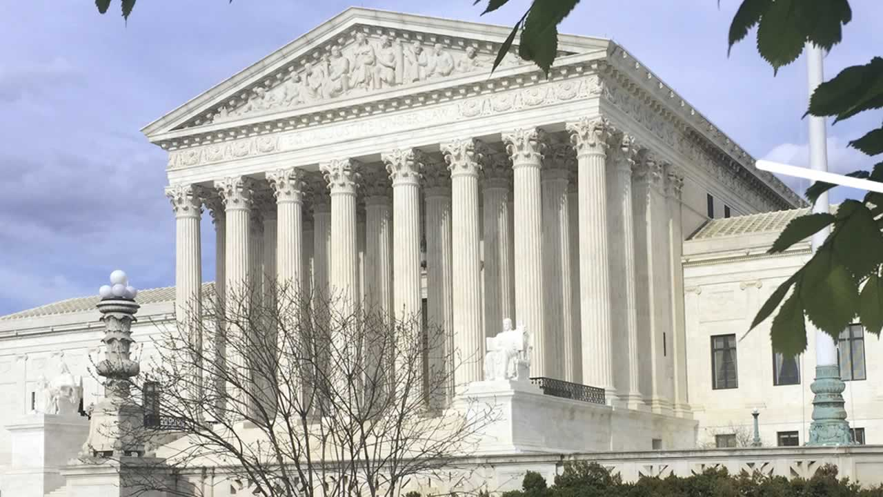 In this April 23, 2018 file photo, the Supreme Court in Washington.