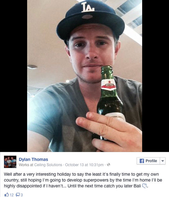 """<div class=""""meta image-caption""""><div class=""""origin-logo origin-image """"><span></span></div><span class=""""caption-text"""">Thomas kept his Facebook audience updated with the progression of his spider bite. (Dylan Thomas / Facebook)</span></div>"""