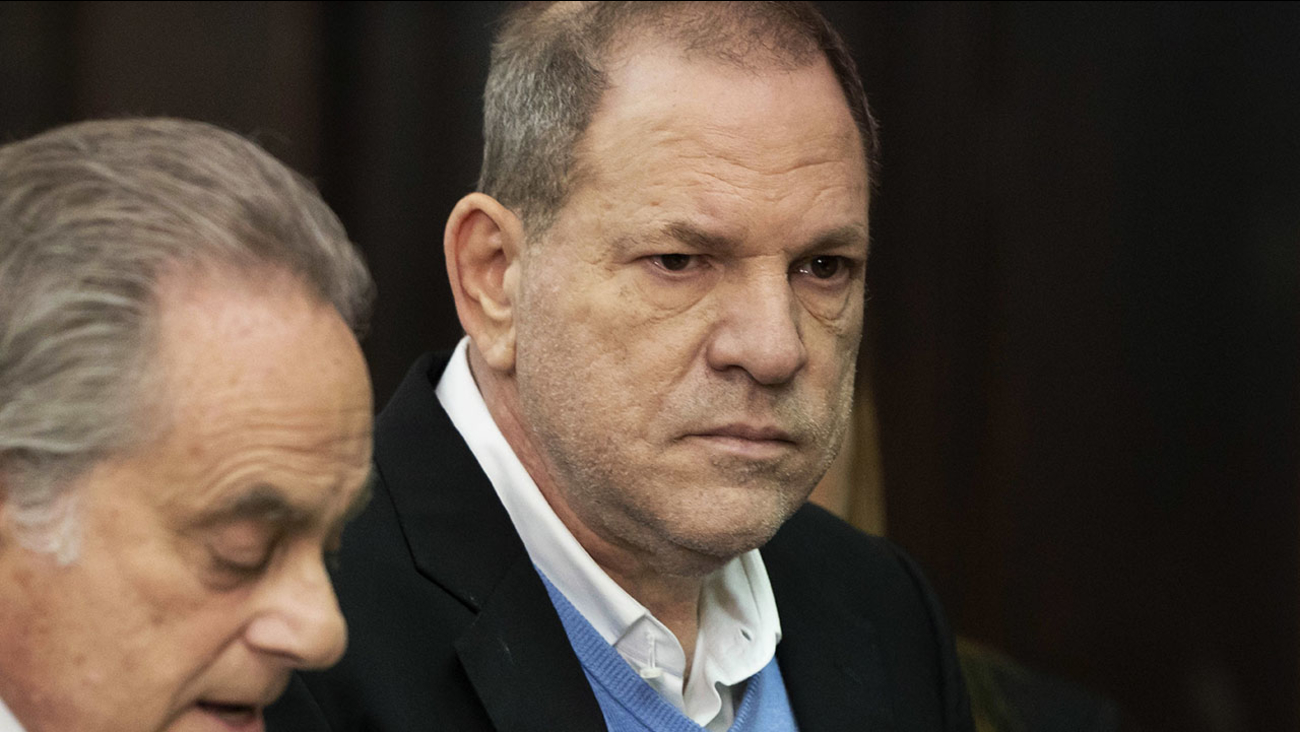 Harvey Weinstein, right, stands with his attorney, Benjamin Brafman, during a court proceeding in New York on Friday, May 25, 2018.