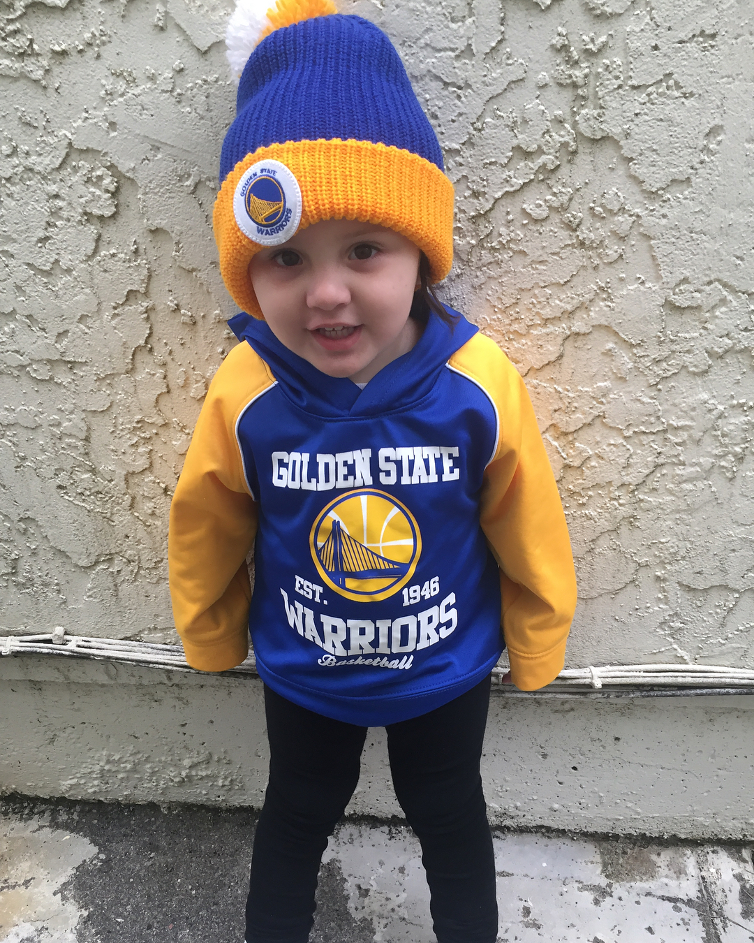<div class='meta'><div class='origin-logo' data-origin='none'></div><span class='caption-text' data-credit='Photo submitted to KGO-TV by @alysiasmama/Instagram'>Warriors fans show their spirit during the 2017-2018 season. Share your photos using #DubsOn7 and you may see them online or on TV!</span></div>