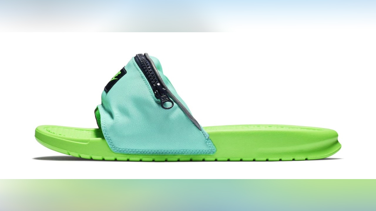 7e50878ba197 Cool for summer or fashion flop  Nike introduces fanny pack slides ...