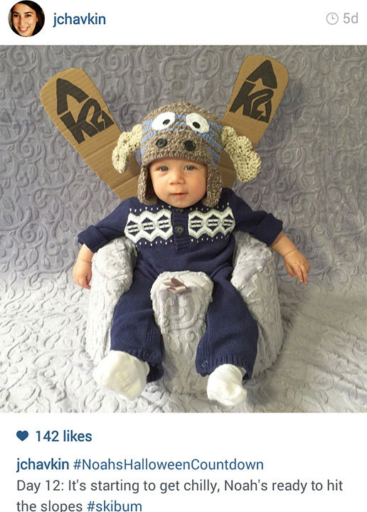 """<div class=""""meta image-caption""""><div class=""""origin-logo origin-image """"><span></span></div><span class=""""caption-text"""">Jessica and Peter Chavkin of NYC have been documenting their four-month-old son in a new Halloween costume for every day of October. Can you recognize them all? (Jessica Chavkin/Instagram)</span></div>"""