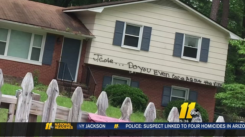 J  Cole's home in Fayetteville vandalized