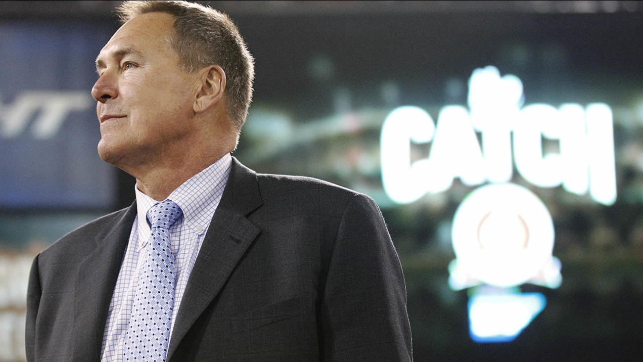 FILE - In this Dec. 23, 2013 photo, former San Francisco 49ers wide receiver Dwight Clark is honored at halftime during an NFL game in San Francisco. (AP Photo/Tony Avelar, File)